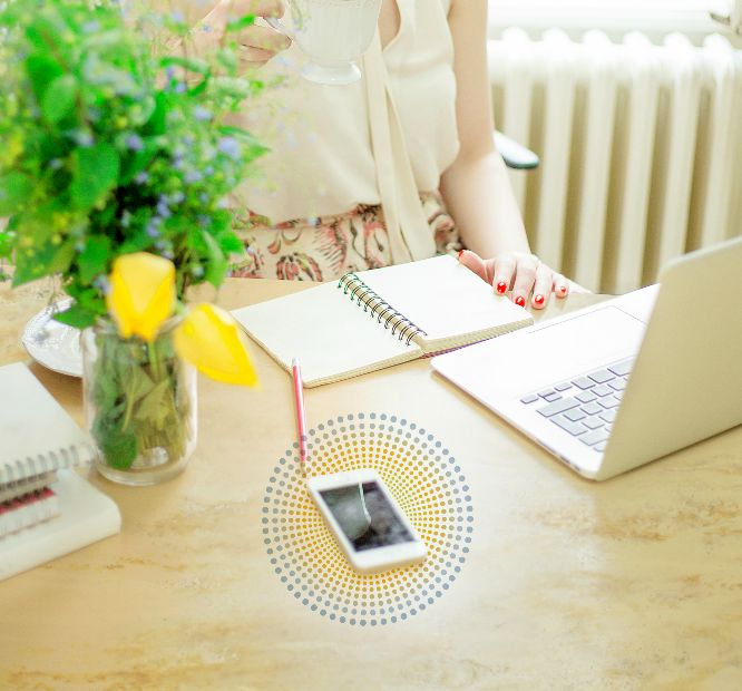 Wireless charging for surfaces office